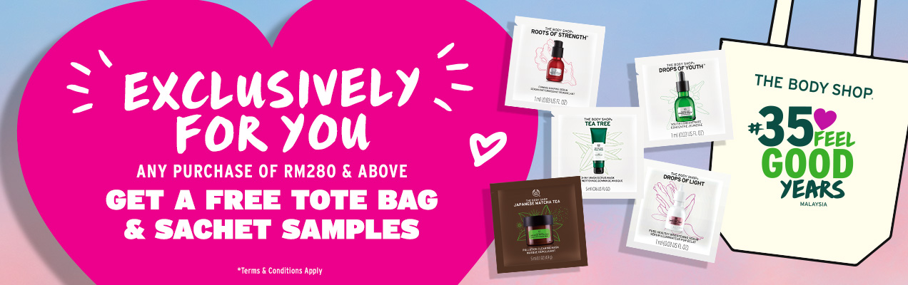 Spend RM280 and above and get FREE 35th Anniversary Tote Bag + 5 sachet samples